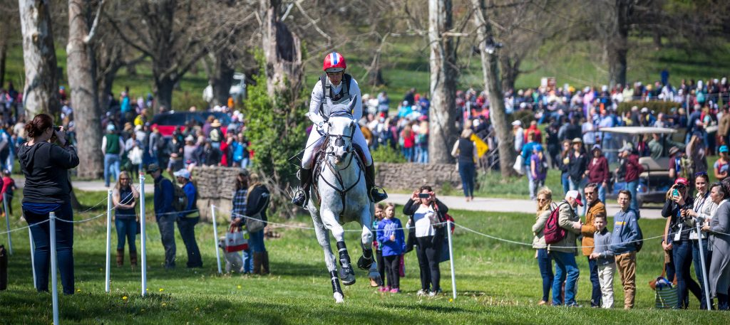 Tamra Smith (USA) and Wembley power through the Cross-Country phase of the  Land Rover Kentucky Three-Day Event presented by MARS Equestrian